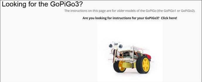 Looking for the GoPiGo-3